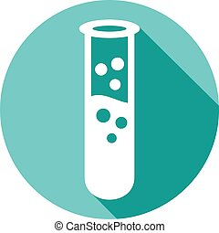 test tube flat icon