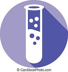 test tube flat icon