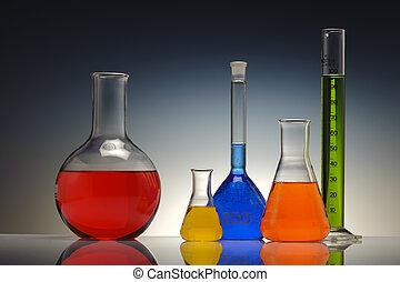 chemistry lab - test tube glass in chemistry laboratory