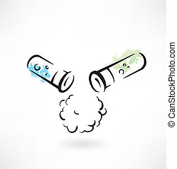 test-tube grunge icon