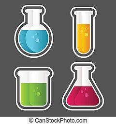 Test Tube Icons - Set of test tube and beaker icons.