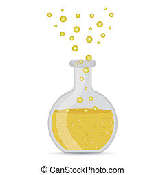 test tube over white background vector illustration
