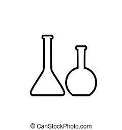 Test tube vector icon