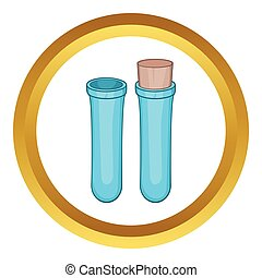 Test tube vector icon