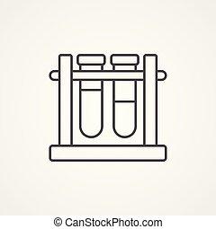 test tube vector icon sign symbol
