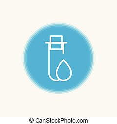 test tube vector icon sign symbol