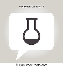 test-tube vector icon