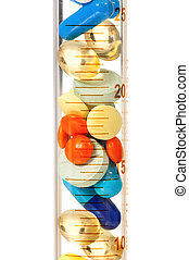 Test tube with pills