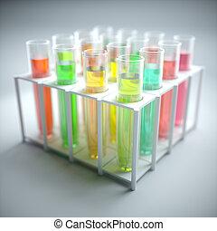 Test Tubes Colored Liquid
