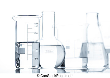Test-tubes containing liquid