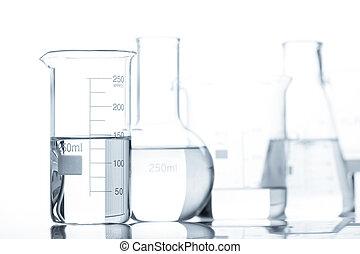 Test-tubes containing liquid