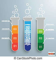 Test Tubes Infographic - Infographic with lab tubes on the...