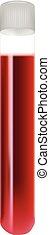 Test Tubes With Blood Samples Isolated On A White Background. Realistic Vector Illustration.