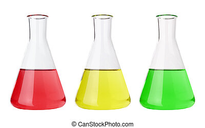 Test tubes with colorful liquids