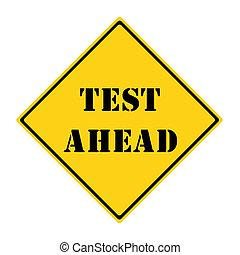 test, vooruit, meldingsbord