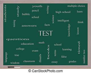 Test Word Cloud Concept on a Blackboard