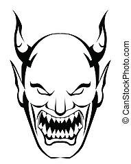 testa, demone