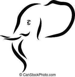 testa, elefante
