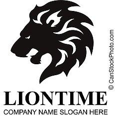 testa, logotipo, vector., disegnare elemento, leone, icona, simbolo