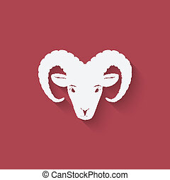 testa pecora, simbolo