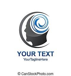 testa, pensare, creativo, educazione, immaginazione, cervello, vettore, umano, design., logotipo, cultura, element., sagoma