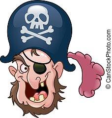 testa, pirata