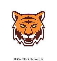 testa tigre, illustration.