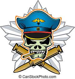 testa, ufficiale, cranio