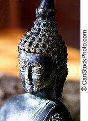 testa, uno, buddha-figure