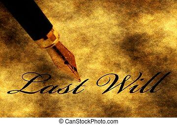 testament, pen, leest