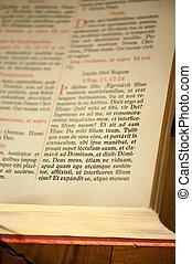 testamento, novo, latim, antigas, página