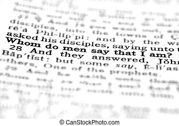 testamento, novo, scripture, citação
