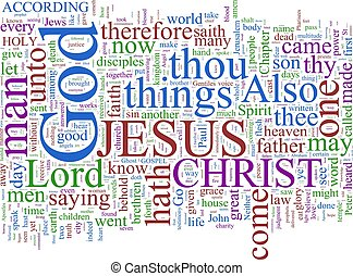 testamento, palavra, -, nuvem, novo