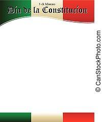 testata, costituzione, spagnolo, giorno