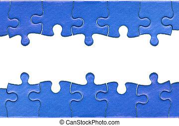 testata, jigsaw, nota calce