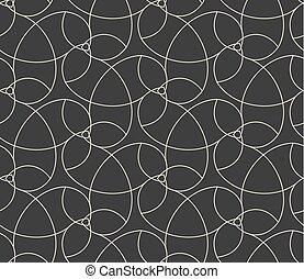 teste padrão flor, abstratos, cinzento, seamless, fundo