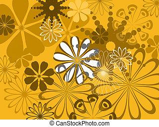 teste padrão flor, abstratos