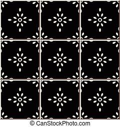 teste padrão flor, cerâmico, crucifixos, azulejo, redondo,...