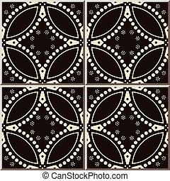 teste padrão flor, cerâmico, curva, crucifixos, azulejo,...