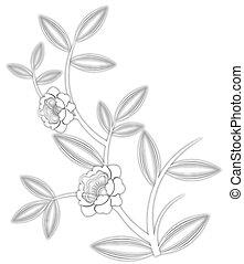 teste padrão flor