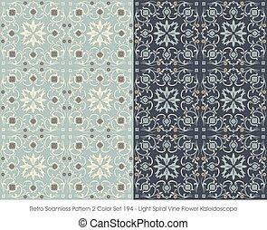 teste padrão flor, videira, espiral, seamless, retro, caleidoscópio