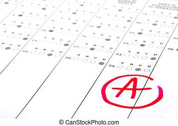 teste, papel, resultado