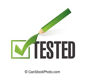 tested check mark illustration