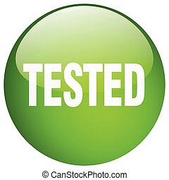 tested green round gel isolated push button