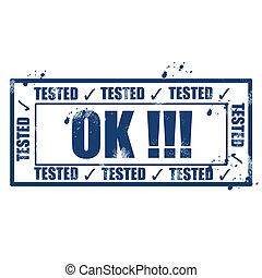 Tested ok stamp