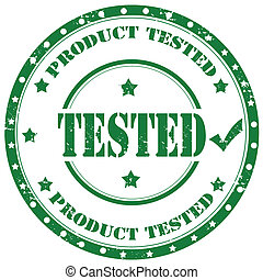 Tested-stamp - Grunge rubber stamp with text Product Tested...