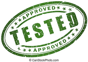 Tested stamp - Tested and approved stamp illustration