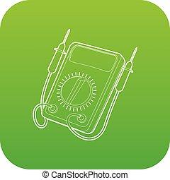 Tester icon green vector