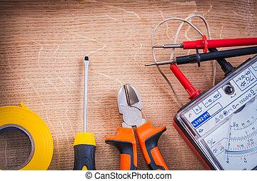 tester, multimeter, schroevendraaier, elektrisch, insu,...