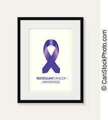 Testicular cancer awareness frame